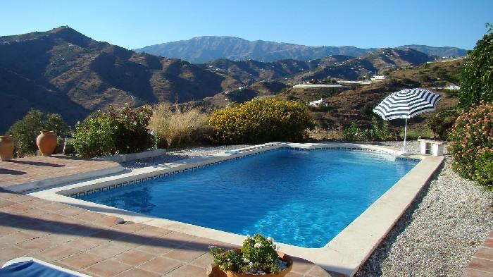 Der Pool der Finca el Sueno im Campo von Torrox