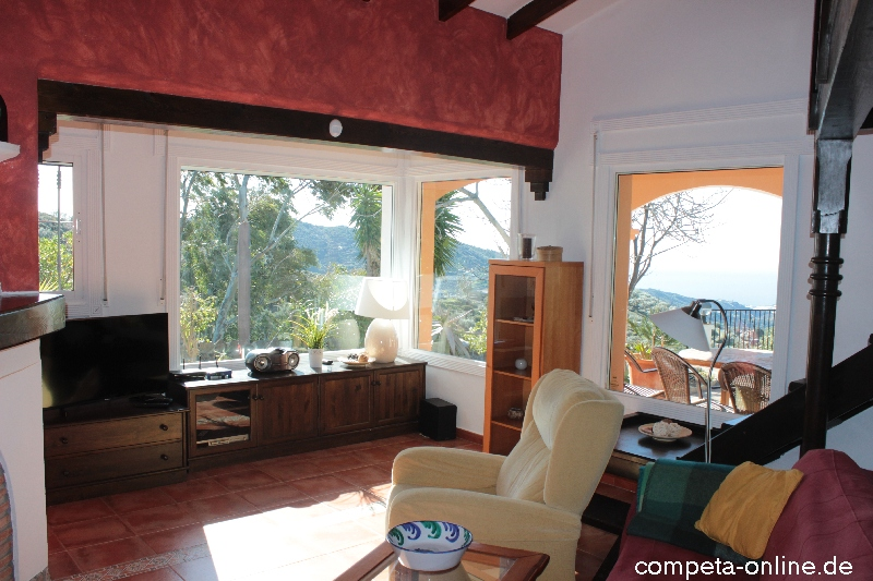 Finca la huerta wohnzimmer k che ferienhaus in c mpeta for Panoramabilder wohnzimmer